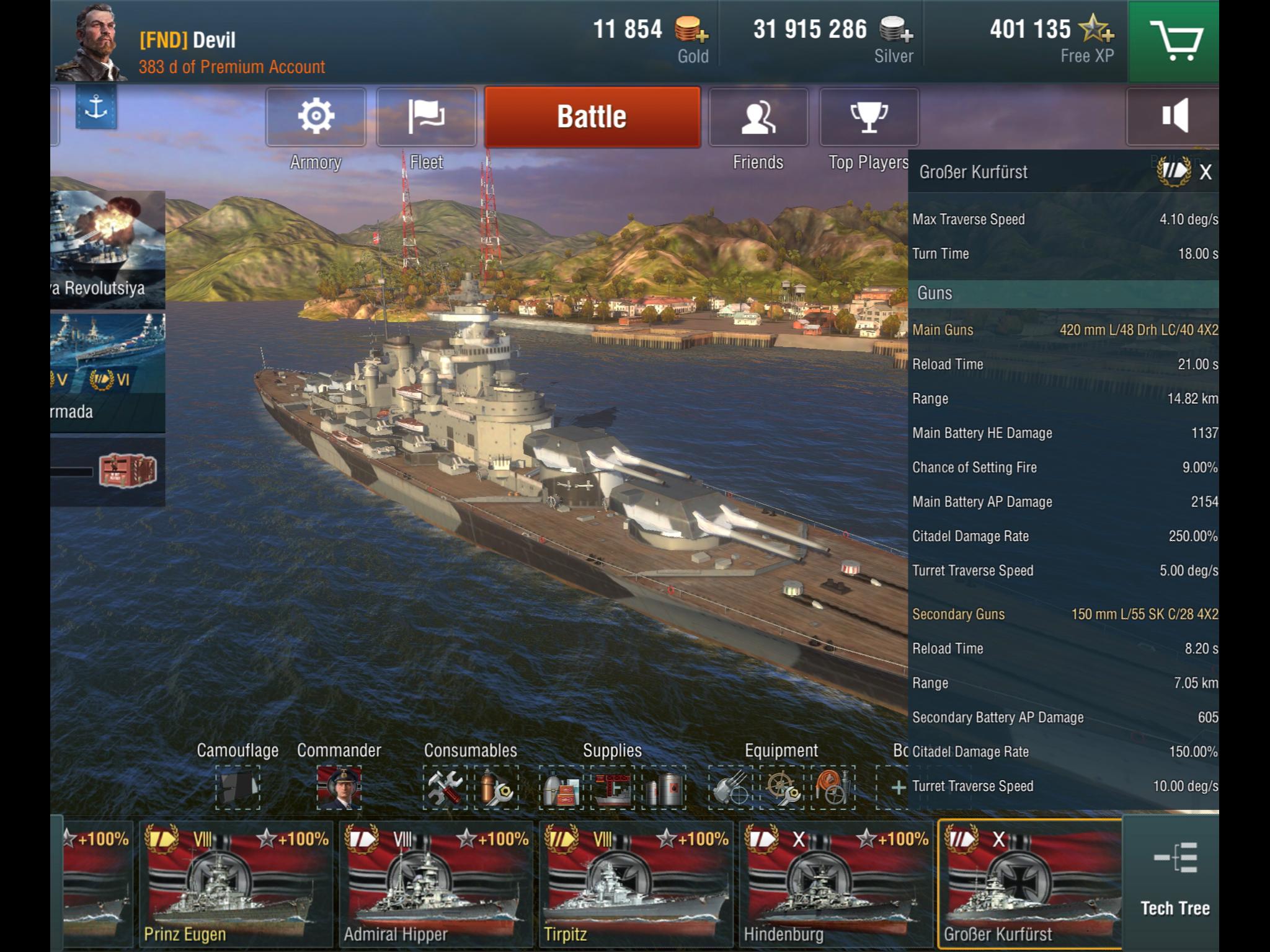 HMS Sirius as a Tier VI Premium Cruiser in World of Warships Blitz